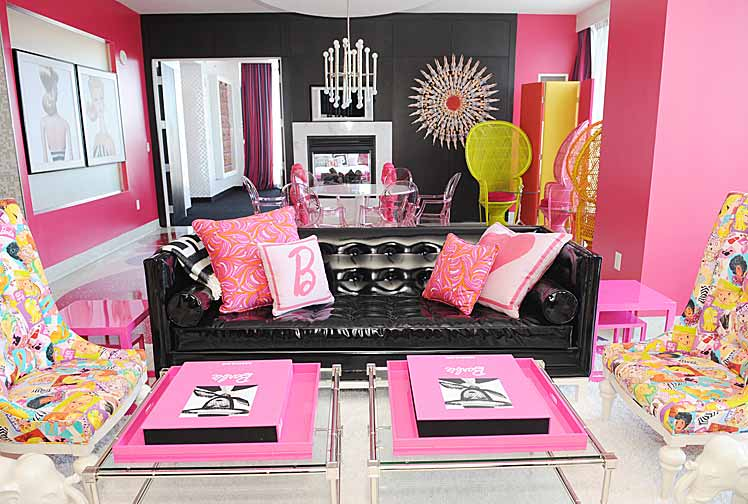 Hot Pink Room With Vinyl Decor