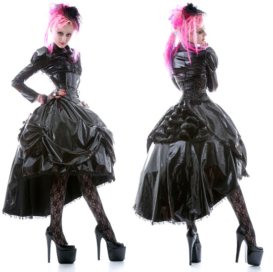 Victorian Dress Made From Vinyl Fabric