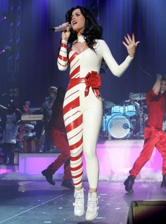 Katy Perry  Dress on Katy Perry Latex Catsuit