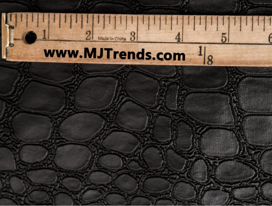 Mjtrends Crocodile Fabric Black