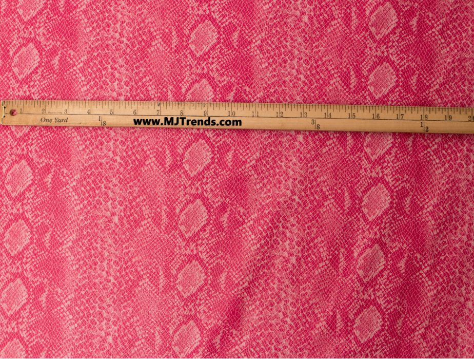 Mjtrends Snakeskin Fabric Pink