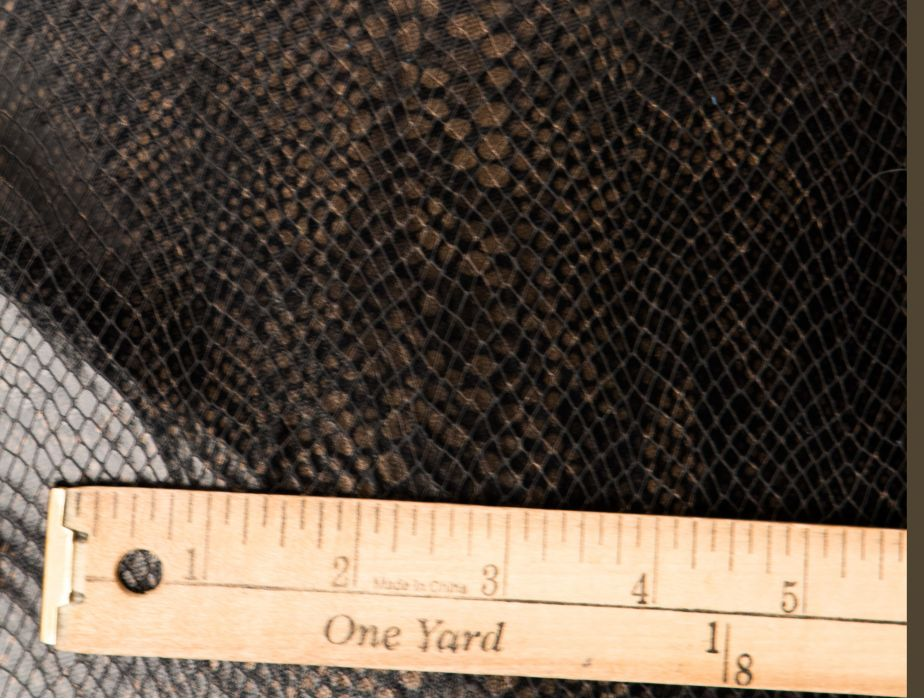 Mjtrends Snakeskin Fabric Black With Bronze