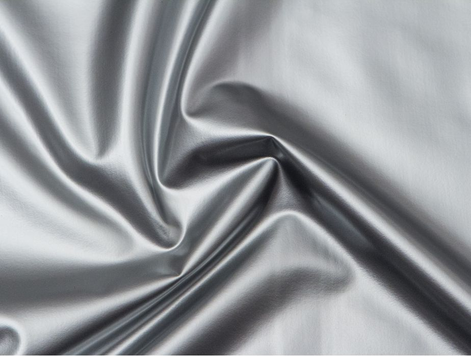Mjtrends Stretch Pvc Fabric Silver